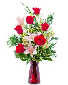 393811e7d8e4 Winter Caress Flower Arrangement Send Roses