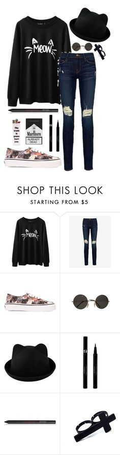 """""""Untitled #302"""" by ticci-toby ❤ liked on Polyvore featuring Frame Denim, Vans, Sisley and Gorgeous Cosmetics"""