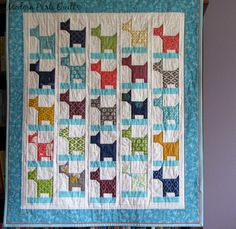 Modern Parti Quilts: It's A-Bark Time