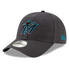 3fc73004a9a0 Men's Miami Marlins New Era Graphite 2019 Core Fit 49FORTY Fitted Hat