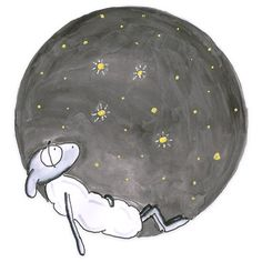 'stargazer / Sternengucker' by Sascha Kläger Stargazer, Illustration, Snoopy, Fictional Characters, Art, Drawing Pictures, Sheep, Friends, Gifts