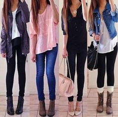 Back to school outfits. Or maybe like for fall
