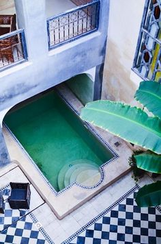 the pool  Moroccan patio - Riad Alamir in Marrakech