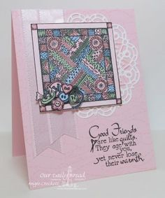Stamps - Our Daily Bread Designs Quilts, Stitch Background, ODBD Custom Doily Dies