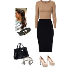 """#JohnHardy #Dot #CuffBracelet from #JRDunn in """"Work attire"""" by maddyyiscool on Polyvore"""