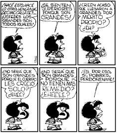 """""""¿No será que son grandes porque no tienen más remedio? #MafaldaQuotes"""