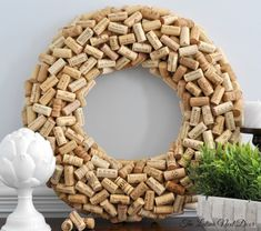 Do you have a bunch of left over wine corks, like I do?! I have so many saved up from over the years, and they are just so pretty that I never have the heart to throw them out! Well it's fina…