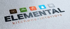 Elemental kitchens and interiors brand identity