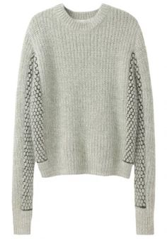 3.1 Phillip Lim : CROPPED MIXED STITCH PULLOVER