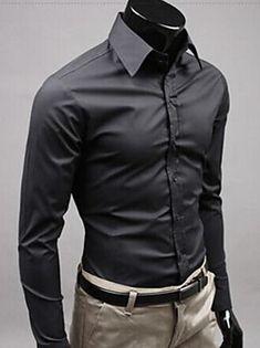 Shopping Cart | LightInTheBox Slim Fit Dress Shirts, Slim Fit Dresses, Fitted Dress Shirts, Formal Shirts, Casual Shirts For Men, Men Casual, Smart Casual, Casual Styles, New Mens Fashion