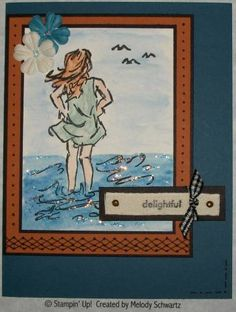 summer delight using Stampin Up Seaside Sketches