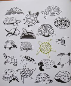 20 ways to draw a cat by Julia Kuo - doodles of turtles