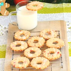 These buttery cookies studded with glazed cherries and lemon glaze were a perfect holiday treat