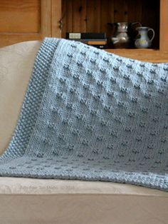 Belleview Blanket knitting pattern by Fifty Four Ten Studio.  Knit with super bulky yarn and big needles.  Quick & easy pattern. Instructions for 5 sizes: XL Blanket, Large Throw, Small Throw, Crib Blanket, Baby Blanket.