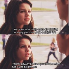 """""""You know what really stinks about falling for a guy you know you're not right for? You fall anyway because you think he might turn out to be different. Another cinderella story Another Cinderella Story, Cinderella Story Quotes, Cinderella Movie, Romantic Movie Quotes, Favorite Movie Quotes, Famous Movie Quotes, Good Movie Quotes, Quotes From Movies, Tv Show Quotes"""