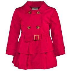 Mayoral Red Cotton Trench Coat
