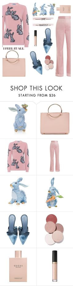 """Love Yourself"" by misshonee ❤ liked on Polyvore featuring Herend, Future Glory Co., Prada, Gabriela Hearst, Mercedes Castillo, LunatiCK Cosmetic Labs, Gucci and Too Faced Cosmetics"