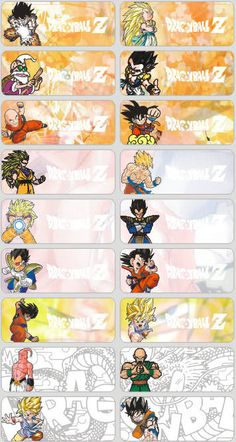 18 Dragon Ball Z Personalised name Label Sticker School book vinyl boy Reward Stickers, Name Stickers, Comic Sans Font, Kids Name Labels, Page Borders Design, Personalized Pencils, Christmas Cards To Make, Printing Labels, Kid Names