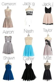 """""""Magcon date dresses"""" by sisabella ❤ liked on Polyvore featuring TFNC, Laona and Unique"""