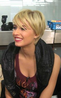 Blonde Short Hair 2013 cut it shorter? or grow it out????