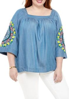 Square Neck Top, Plus Size Fashion, Flare, Vibrant, Tunic Tops, Crown, Amp, Create, Blouse