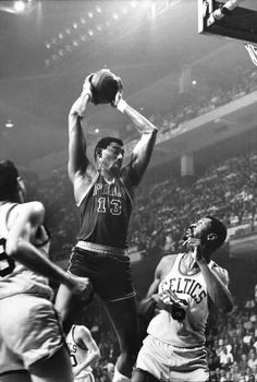 In 1962, Wilt Chamberlain broke the NBA's single-game scoring record, with 100 points in one game. The record still stands today.  (John Zimmerman—The LIFE Picture Collection/Getty Images)