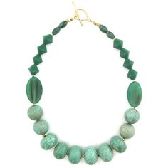 vintage green necklace by Elva Fields