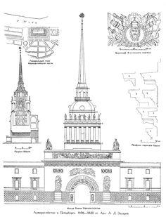 Адмиралтейство в Санкт-Петербурге, чертежи