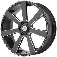 4-NEW Asanti Black ABL-15 26x10 6x139.7/6x5.5 +30mm Black/Milled Wheels Rims