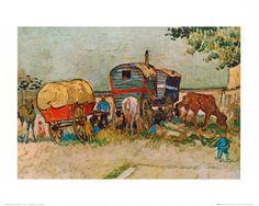 Caravans Encampment of Gypsies    ....by Vincent van Gogh