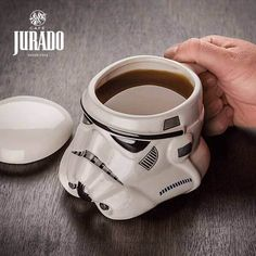 Star Wars Darth Vader Helmet & Stormtrooper Helmet Design Ceramic Mug Officially-licensed Star Wars merchandise Removable lid Capacity: 24 oz. Materials: Ceramic Dimensions: diameter(ish) x t Taza Star Wars, Mug Star Wars, Star Wars Helmet, Vader Helmet, Star Wars Gifts, Darth Vader, Star Wars Darth, Porcelain Mugs, Ceramic Cups