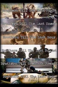 Brothers in arms. Marine Love, Once A Marine, Military Quotes, Military Life, Marine Quotes, Military Humor, Military Veterans, Combat Medic, Gung Ho
