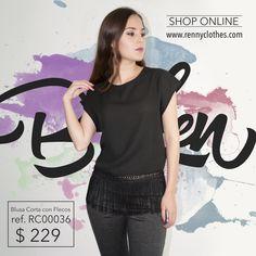 Luciendo como nunca, compra tu blusa corta con flecos Padrísima, nuevo díseño✨ #berenny #rennyclothes #bygirlsforgirls #nice #instafashion #model #makeup #pretty