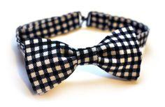 Repurposed Gingham Bandana  PreTied Bow Tie by BrooklynBowtied, $38.00