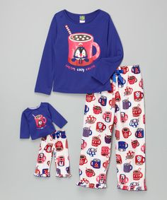 Look at this Blue Cocoa Pajama Set & Doll Outfit - Girls on #zulily today!