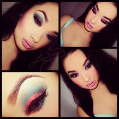 Find makeup images discovered by ♛ ☼ Evy ☼ ♛ on We Heart It Pretty Makeup, Love Makeup, Makeup Tips, Beauty Makeup, Makeup Looks, Hair Makeup, Flawless Makeup, Colorful Eye Makeup, Pink Makeup