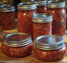After boiling in the water bath - very carefully remove the jars from the water and allow to cool. Check the lids to ensure they have sealed. If your lids don't seal, store the salsa in the refrigerator Making Salsa, How To Make Salsa, Refrigerator, Jars, Seal, Store, Water, Check, Food