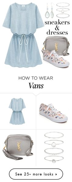 """""""Sporty Chic: Sneakers and Dresses 3461"""" by boxthoughts on Polyvore featuring Yves Saint Laurent, Vans, Kim Rogers, Accessorize and SNEAKERSANDDRESSES"""