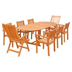 Found it at Wayfair - Cornwell 9-Piece Dining Set