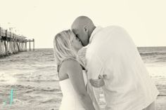 Its all about the background! Beach wedding