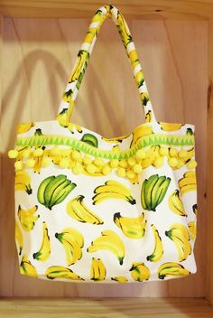 68a396ead6 WEFTshop Banana Tote by Lahu artisans from Thailand  handbags  tote  banana   print