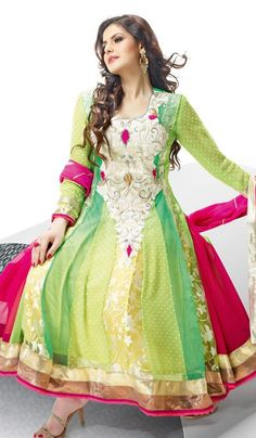 G3 Fashions Lime Pista Net Brasso Party Wear Designer Embroidered Salwar Suit  Product Code : G3-LSA104823 Price : INR RS 7038