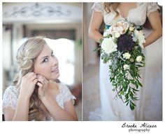 Our lovely bride Jessi.... love this look.