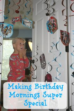 Around here we do birthdays BIG! Come see how our special traditions for birthday mornings. Here's a secret: it doesn't cost a fortune and the kids LOVE their special birthday mornings #BDayOnBudget #ad