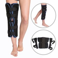 962b9ae7c7 Tri Panel Knee Immobilizer Brace Rigid Straight Support for ACL MCL  Ligament Sports Injuries Osteoarthritis OA