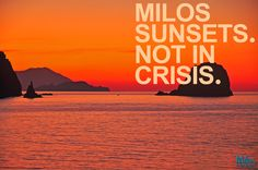 Sunset behind Kalogeros, Pollonia, Milos.    www.pollonia.com