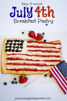 Easy July 4th Breakfast Pastry - Eazy Peazy Mealz