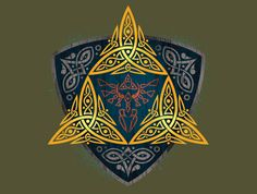 Insignia of a Hero T-Shirt - Legend of Zelda T-Shirt is $11 today at TeeFury!