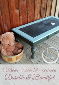 I finally found the perfect paint. Durable and Beautiful Dixie Bell Paint makes our Coffee Table Makeover kid tough. #sponsored #DixieBell #GatorHide