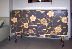 Decoração de móveis com papel de parede - http://www.dicasdecoracao.com/decoracao-de-moveis-com-papel-de-parede/
